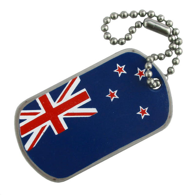 New Zealand Flag Printed Dog Tag