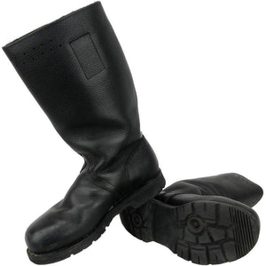 German Navy Leather Lined Jackboots