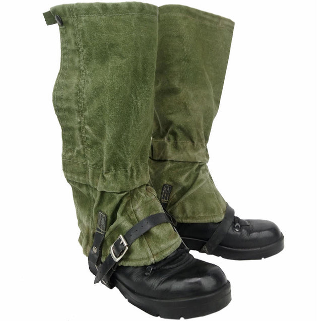 British Army OD Canvas Gaiters