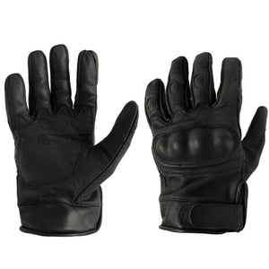 Black Leather Tactical Gloves