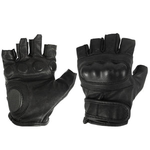 Fingerless Leather Tactical Gloves