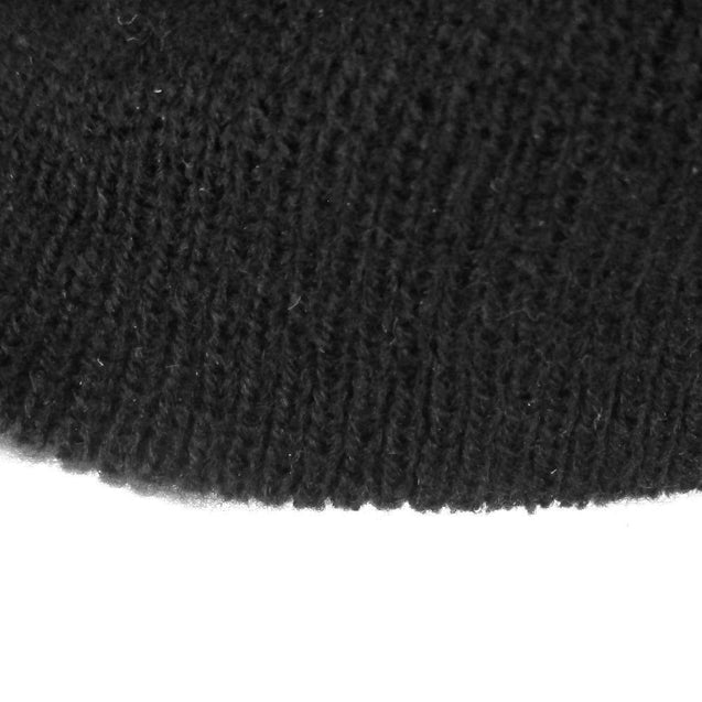 Black Knitted 3 Hole Balaclava
