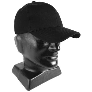 Black Cotton Baseball Cap