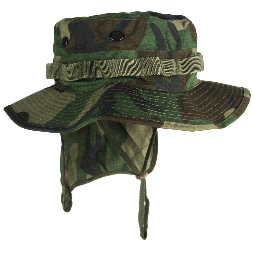 0cea75dc Woodland Boonie Hat with Neck Flap   Army & Outdoors