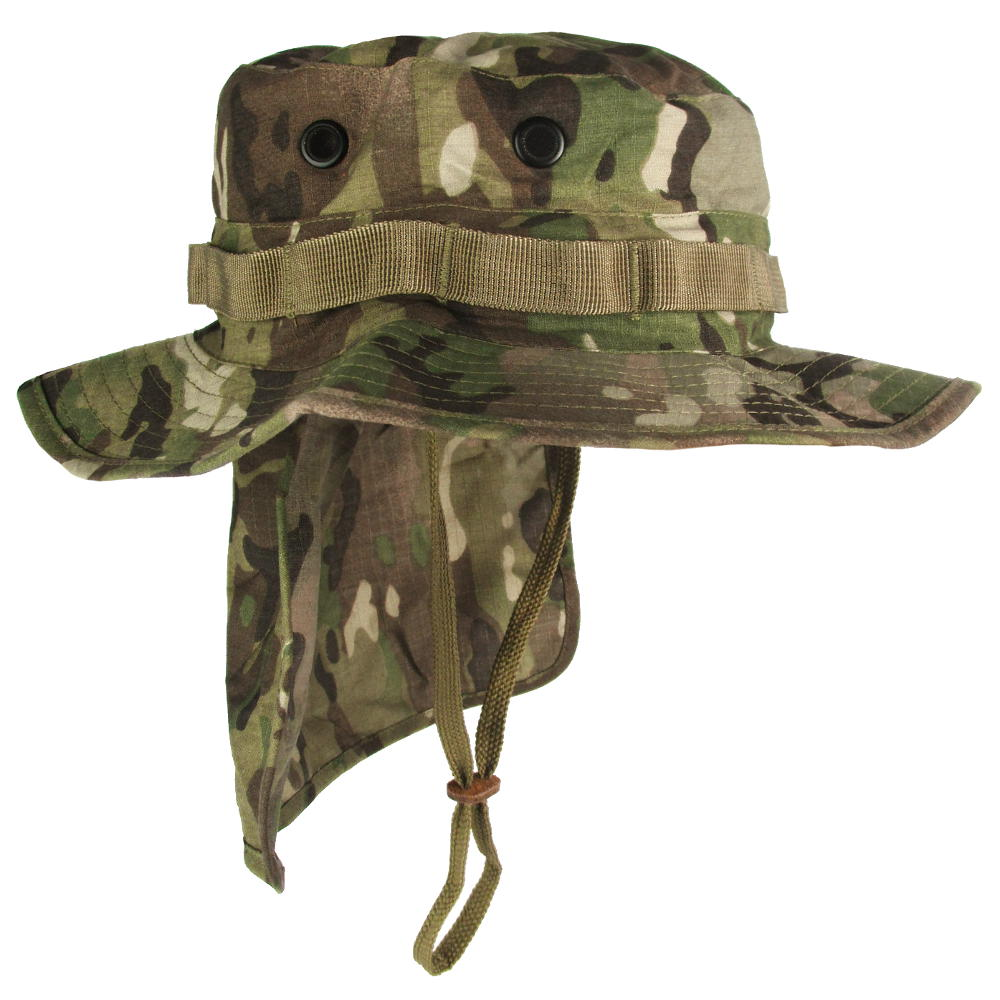 Multicam Boonie Hat with Neck Flap  6c36ec2dc35