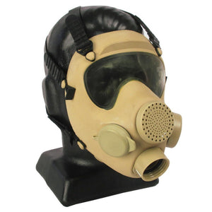 French Army Tan ARF-A Gas Mask - No Filter