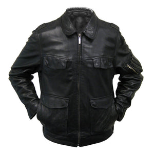 German Police Leather Jacket