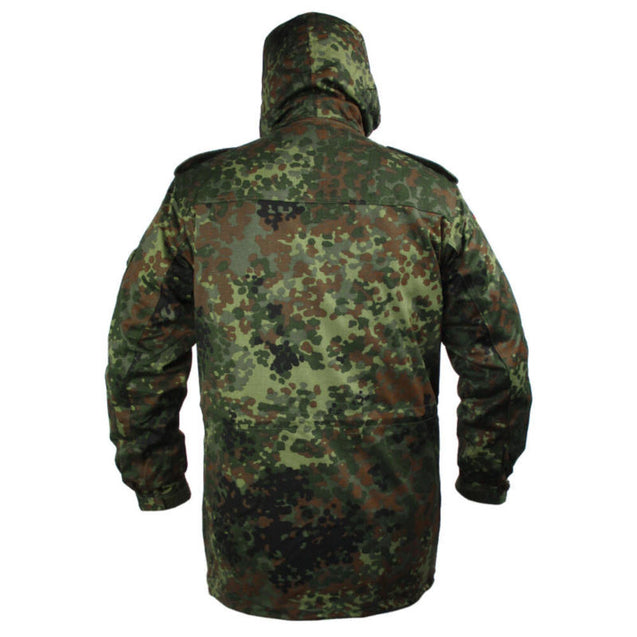 German Flecktarn Parka With Liner - New