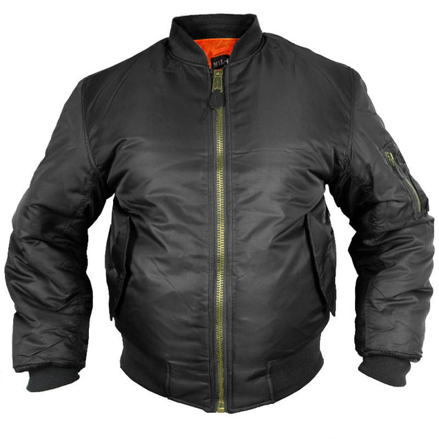 MA-1 Bomber Flight Jacket - Black