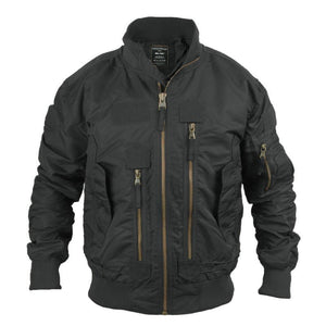Black Tactical Flight Jacket