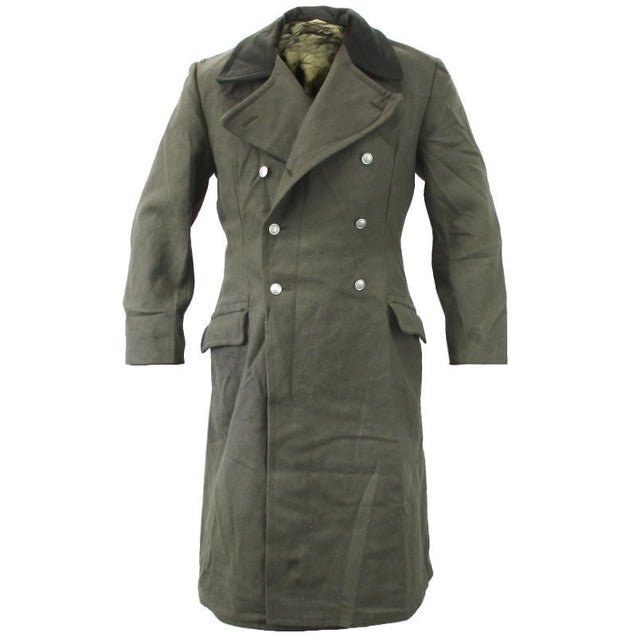 East German Grey Wool Overcoat