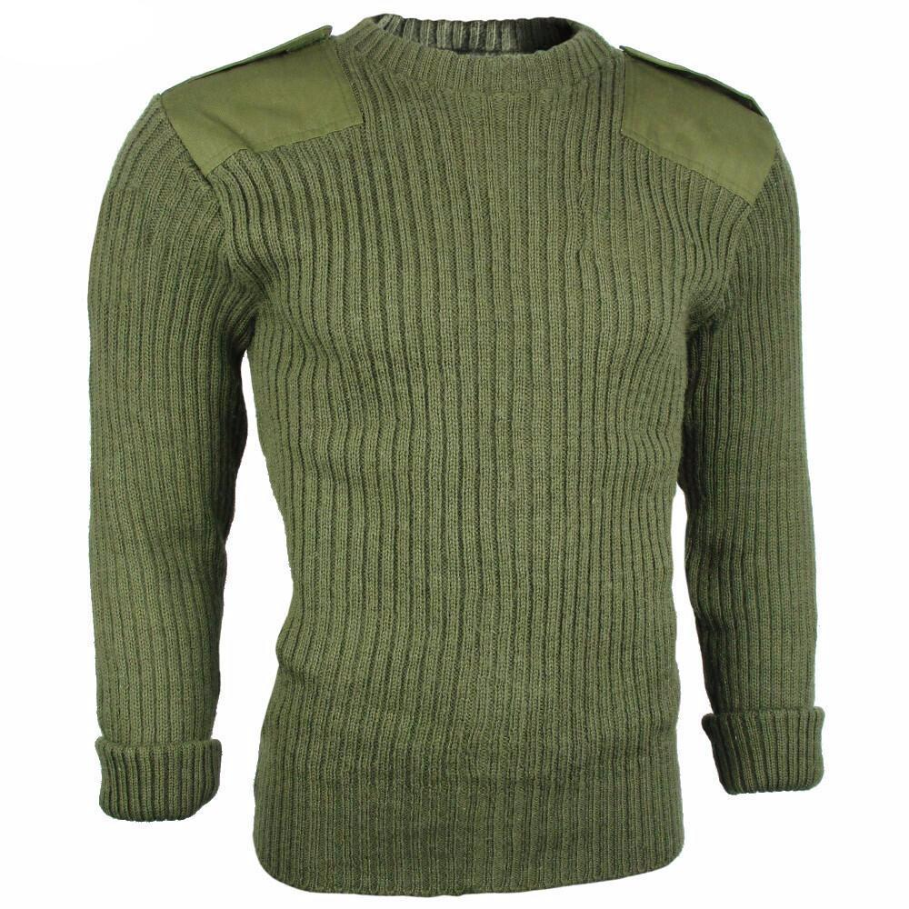 British Army Issue Wool O/D Sweater