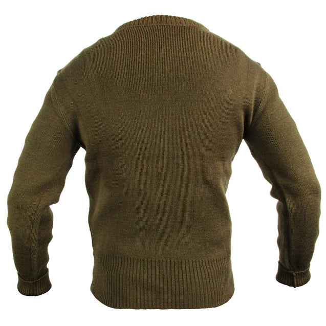 French Army Brown Wool Jersey