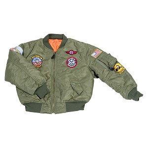 Jacket Kid's MA1 W/7 Patches Sage