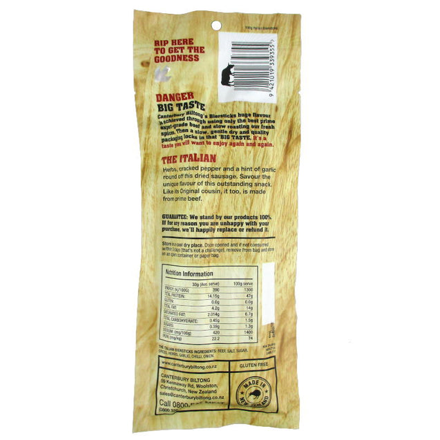 Biltong Air-Dried Italian Bier Sticks 100g