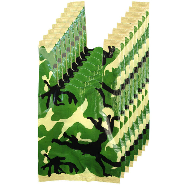 Camo Loot Bags 8 Pack