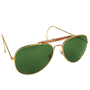 Green Lens Aviator Sunglasses