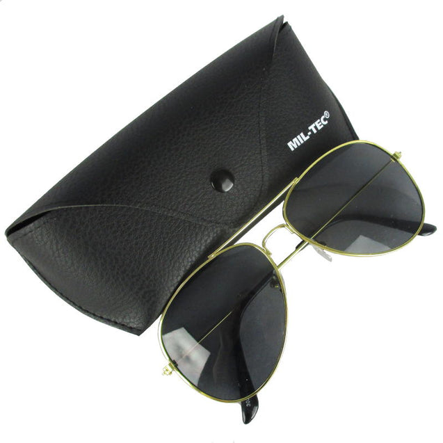 Black Lens Pilot Sunglasses