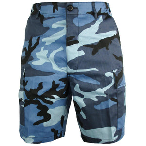BDU Sky Blue Camo Shorts