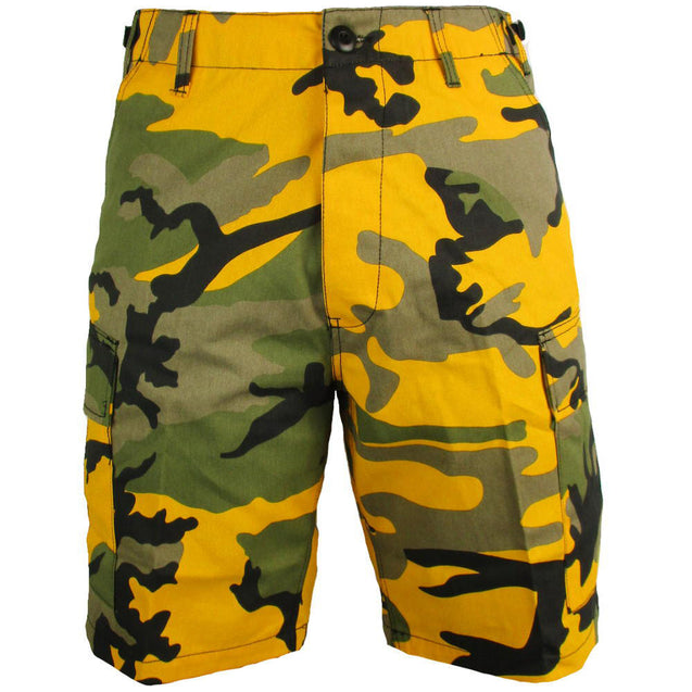 BDU Yellow Camo Shorts