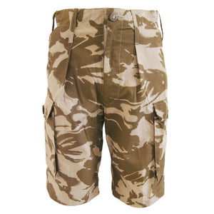 British Army Desert Camo Shorts - New