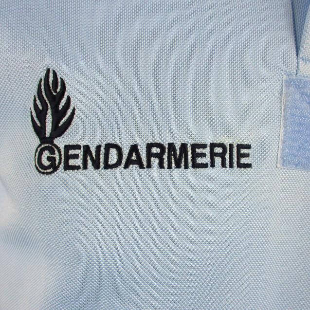 French Gendarmerie Blue Polo