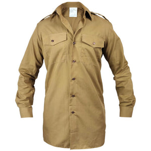 British Army Long Sleeve Khaki Shirt
