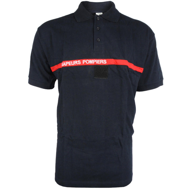 French Pompiers Polo - Red Stripe