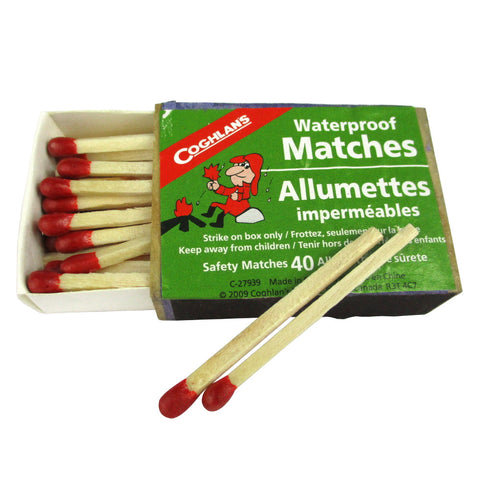 Coghlans Waterproof Matches 40 Pack