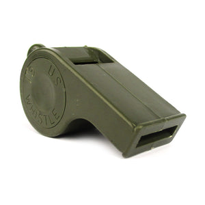 Plastic Olive Drab Whistle