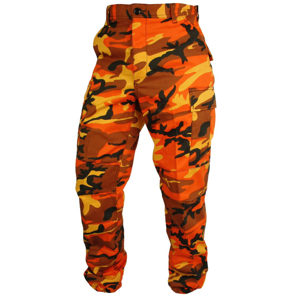 Tactical Camouflage BDU Pants - Orange  dae25ce2dc9