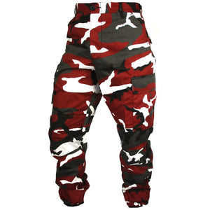 Tactical Camo BDU Pants - Red
