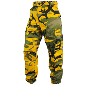 Tactical Camo BDU Pants - Yellow