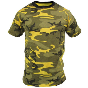 Coloured Camo T-Shirt - Yellow