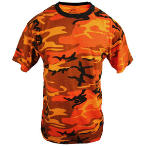 Coloured Camo T-Shirt - Orange