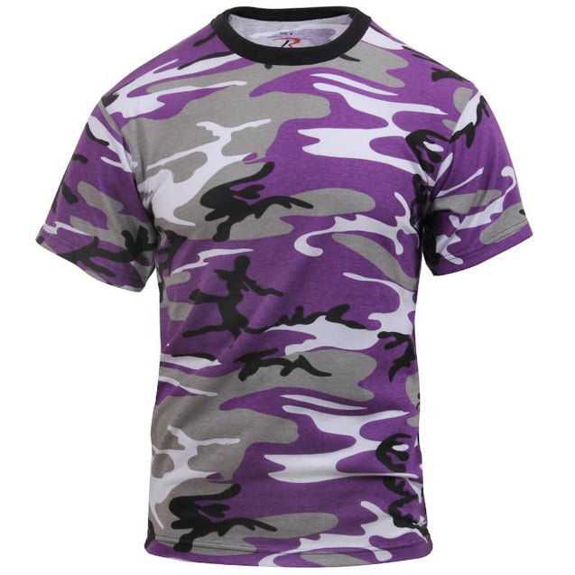 Coloured Camo T-Shirt - Purple