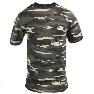Dark Camo Cotton T-Shirt
