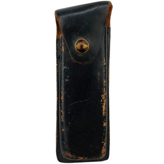 German Leather Pistol Mag Pouch