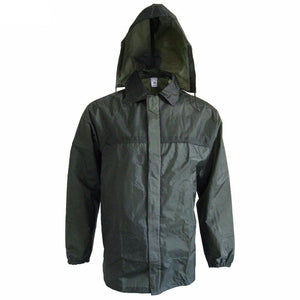 French Olive Drab Rain Jacket With Hood