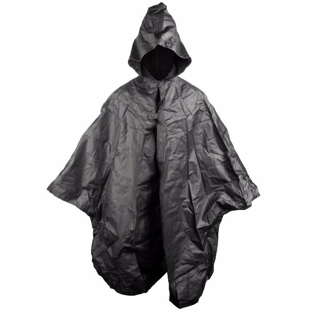 French Black Waterproof Poncho