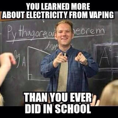 Electricity Ohm's Law Vaping Meme
