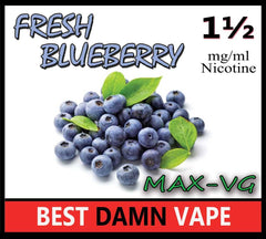 Fresh Blueberry Max-VG E-Juice - Best Damn Vape - 2