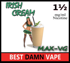 Irish Cream Max-VG E-Juice - Best Damn Vape - 2