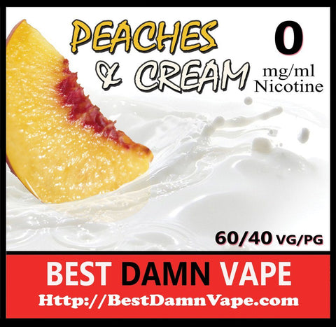 Overstock 0mg Peaches and Cream E-Liquid