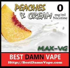 Overstock 0mg Peaches and Cream Max-VG E-Liquid