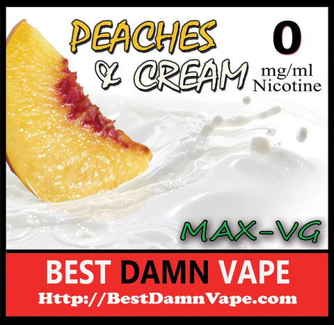Peaches and Cream Max-VG E-Juice
