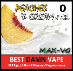 Peaches and Cream Max-VG E-Juice - Best Damn Vape