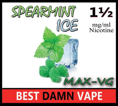Spearmint Ice Max-VG E-Juice - Best Damn Vape - 2