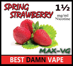Spring Strawberry Max-VG E-Juice - Best Damn Vape - 2