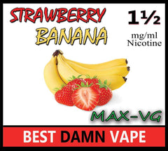 Strawberry Banana Max-VG E-Juice - Best Damn Vape - 2